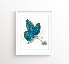 Watercolor Butterfly Wall Art, Blue Butterfly Print, Abstract Butterfly Painting, Butterfly Poster, Butterfly Art Prints