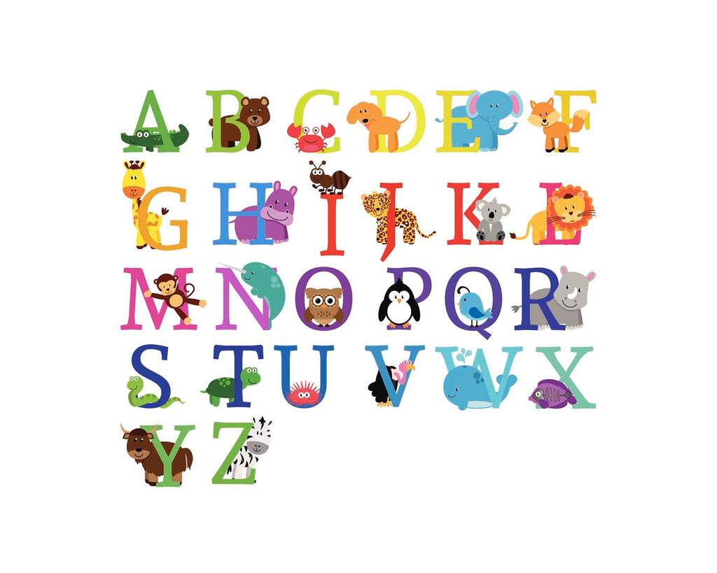 Crafty Cow Design - Animal Name Print Letter Options