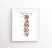 Daddy Son Gifts for Fathers Day Gift from Daughter, Gifts for Dad from Daughter, Father Poster, Husband Fathers Day