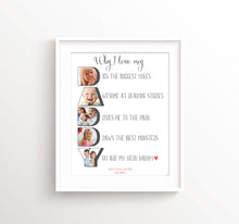 Dad Photo Gifts for Daddy, Fathers Day Gifts, Gift for Dad from Baby