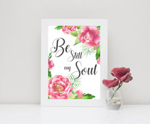 Be Still My Soul Wall Art Prints A4, Bible Verse Pictures, Christian Art Poster, Biblical Quotes, be still wall art