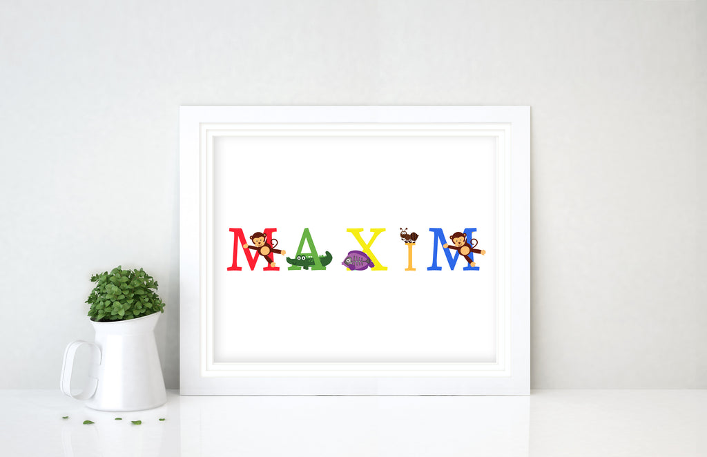 Personalised Name Prints, Name Prints, Name Prints for Nursery, Name prints for baby, personalised baby name wall art