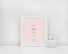 Pink Nursery Picture, Baby Girl Bedroom Decor for Girls Room, Wall Decor For Nursery Girl Bedroom Wall Quotes, Prints for Baby Girls Room