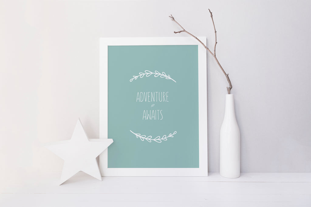 Adventure Quotes for Nursery, Adventure Awaits Nursery Print, Gender Neutral Nursery Print, Explorer Nursery Prints,