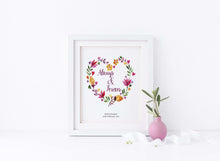e wedding prints gifts, floral wedding wall art pictures, Personalised Wedding Prints UK, floral wedding wall art uk