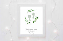 Birth Details Picture Baby Footprint Wall Decor for Nursery - a touching addition for a boys nursery