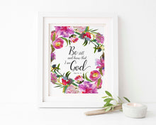 Be Still and Know That I am God Wall Art, Psalm 46 10 Pictures Print, Psalm 46 10 Print, Christian Home Decor, Bible Art