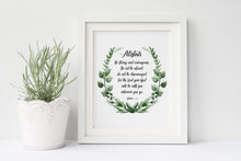 Be Strong, Strong And, And Courageous, Personalised Joshua 1 9 Print, Biblical Gifts, Bible Verse Wall Decor, Christian