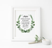Personalised Be Strong and Courageous Wall Art, Personalised Joshua 1 9 Picture, Personalised Bible Verse, Joshua 1 9