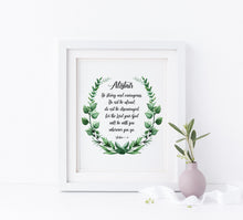 Encouraging Bible Verse Wall Art, Christian Wall Art, Bible Quotes, be strong and courageous printable, strong quote