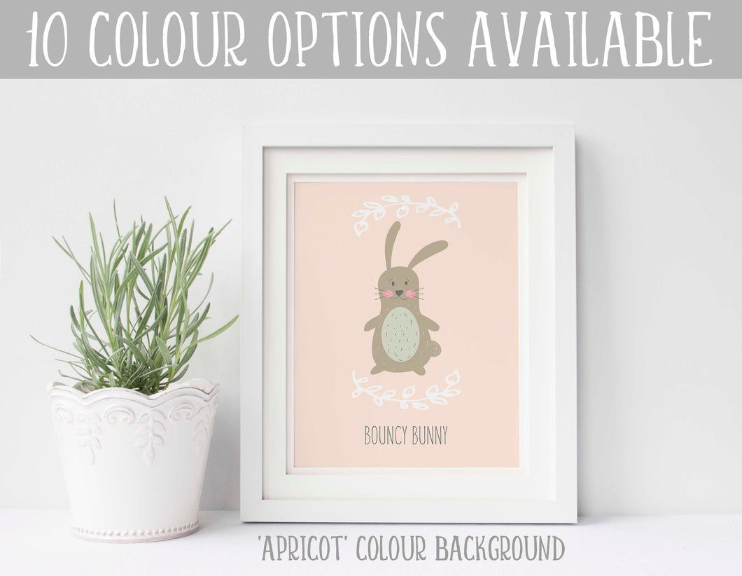 Bunny Nursery Decor, Bunny Nursery Print, Bunny Baby Room Decor Idea, custom bunny wall art, bunny themed baby room