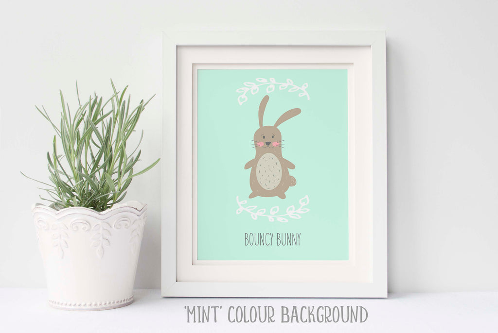 Bunny nursery art, bunny nursery pictures, bunny nursery ideas, bunny, personalised nursery wall art,cute bunny wall art