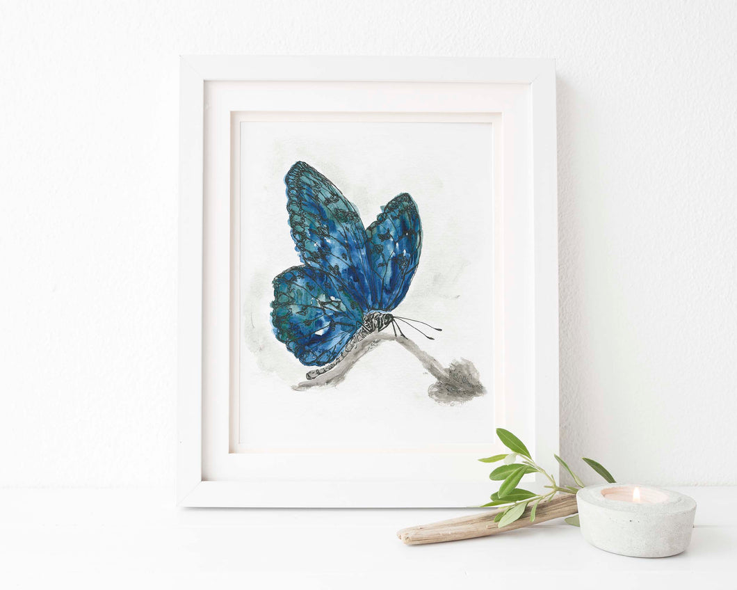 Butterfly Wall Art UK, Watercolour Butterfly Prints, Butterfly Art