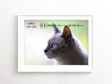 Cat Memorial Photo Sound Wave, Cat Wall Art, Cat Lover Gift, Cat Lover Gifts UK