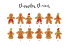 Crafty Cow Design - Gingerbread family character choices