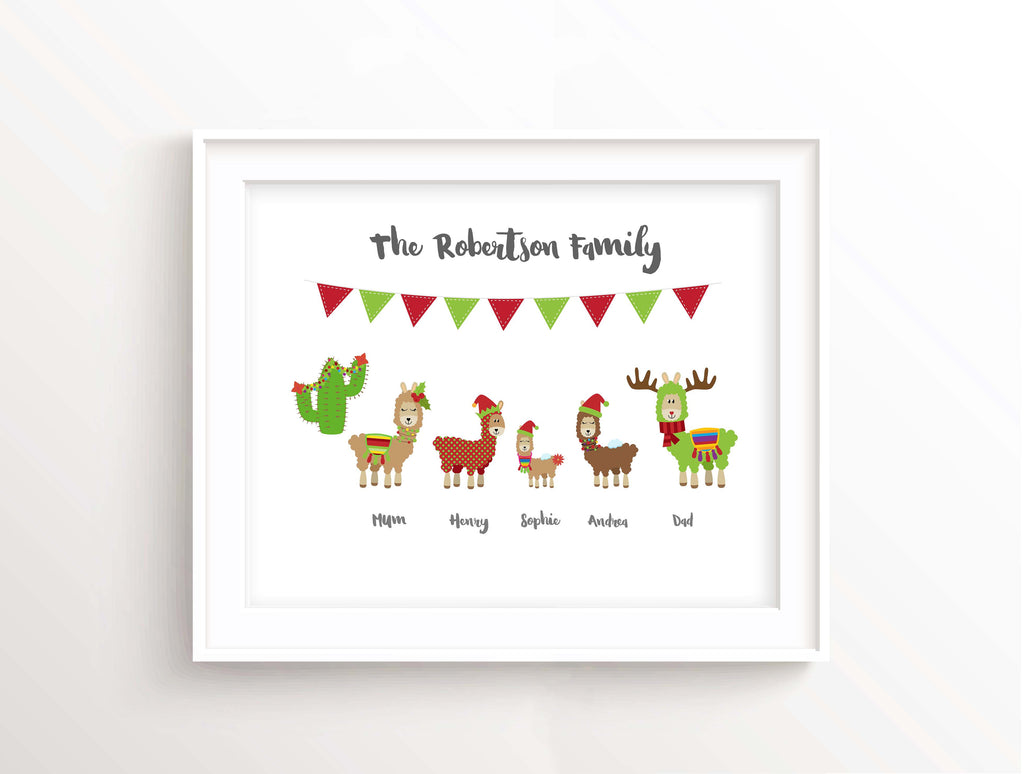 personalised christmas gifts, personalised christmas presents, personalised christmas wall art, family christmas picture