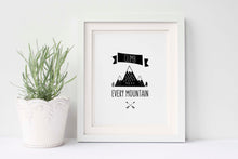 Nursery Prints Woodland Black and White, Mountain Nursery Theme, Nursery Adventure Decor, Adventure baby decor