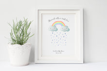 Rainbow Baby Shower Ideas, Baby Shower Fingerprint Keepsake Tree Gift Idea