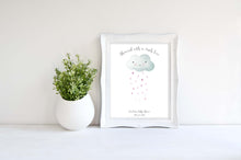 Baby Shower Fingerprint Keepsake Picture + Ink, Cloud Baby Shower Decorations Unisex Print Wall Art, Baby Shower Print