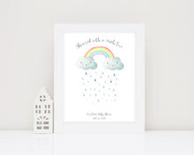 Rainbow Baby Shower Guest Book Alternative Baby Shower Keepsake Idea, Fingerprint Guest Book
