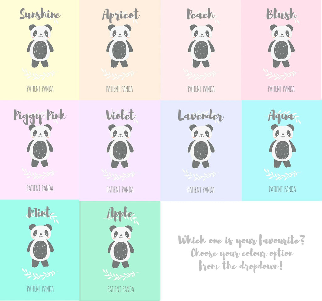 Panda Nursery Wall Art - Colour Options