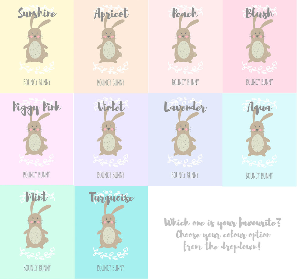 Crafty Cow Design - Bunny Nursery Print Colour Choices