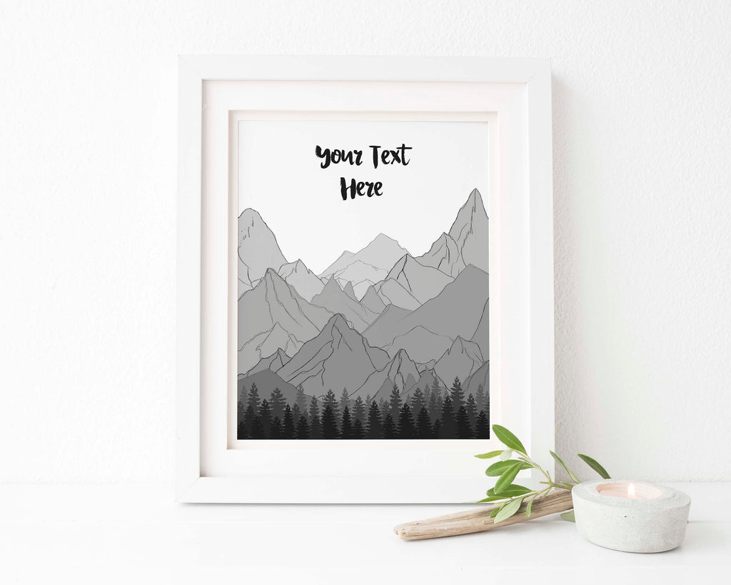 Mountain Poem, Mountain poster, mountain print, mountain wall art, mountain wall nursery, mountain wall decor
