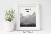 Custom Quote Wall Art, Custom Poem Print, Personalised Poem Print, Mountain Wall Art, Mountain quote, Mountain Art