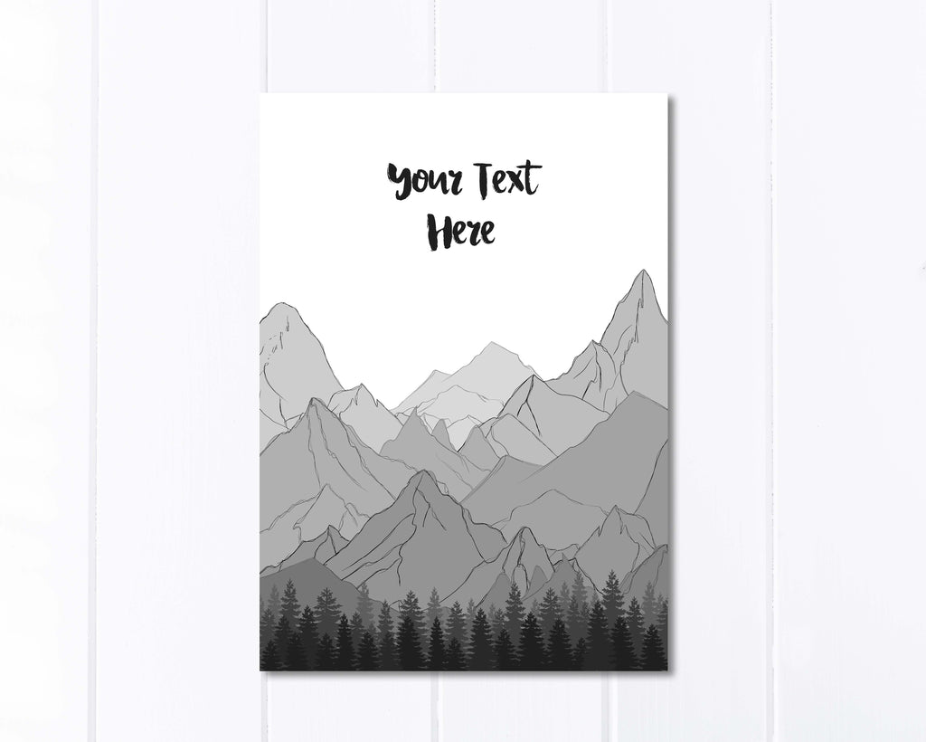 personalised mountain print, personalised mountain gifts, personalised mountain wall art, personalized mountain wall art