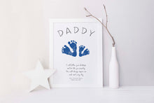 father's day gifts uk, dad gift footprint, fathers day footprint craft, handprint art for dad birthday, baby footprint