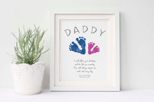First Fathers Day Gift from Kids, Baby Footprint Kit, Dad Birthday Gift for Dad,Handprint Gift, Gifts for Dad,