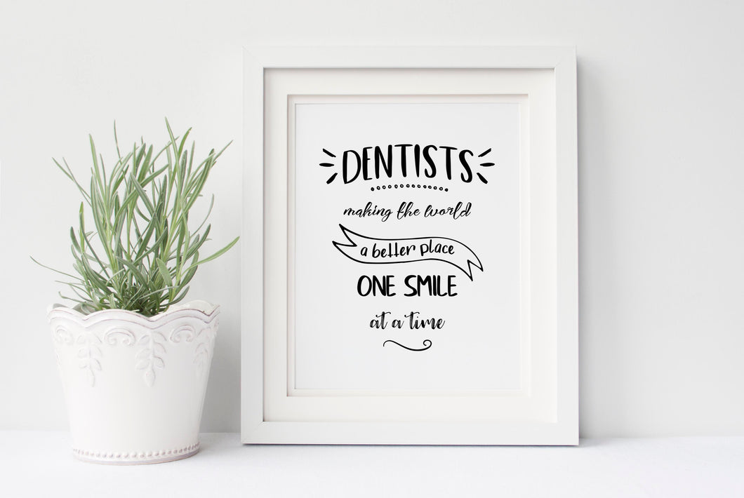 Dentist Wall Art for Dentist Office, Dental Quotes Art Prints Poster, dentistry gifts, dentistry wall art