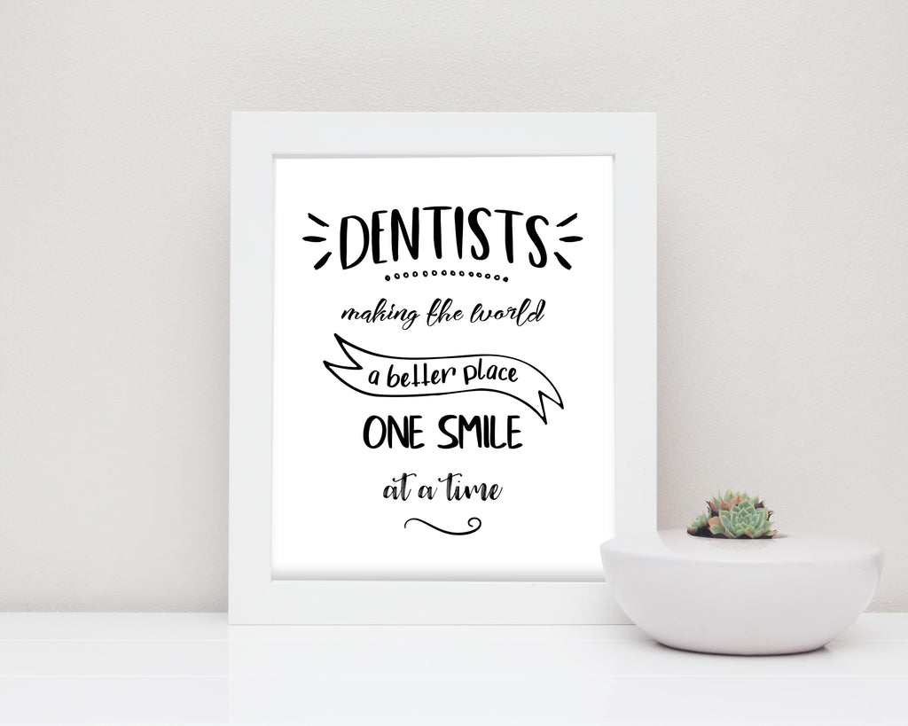 Dentist Gifts for Dentist, Dental Posters, Dental Prints, dental wall art, dental art, dental quote