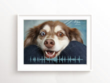 Personalised Sound Wave Print, Photo Sound Wave Art, custom dog print, personalised dog family print