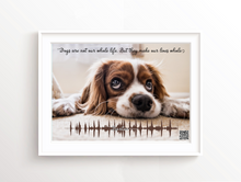 Custom Dog Sound Wave Art, Personalised Dog Prints, Dog Sound Waves