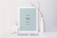 inspirational quotes, inspirational quotes about dreams, inspirational wall decor, dream big little one wall art print