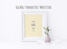 dream big little one nursery print, dream big little one picture, Boy or Girl Print, Inspirational Quote Print, Quote