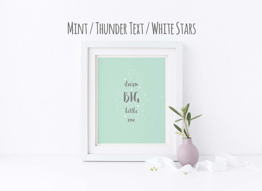 Dream Big Little One Nursery Decor Print, Unisex Nursery Ideas Art, dream big little one nursery print, Unisex Nursery