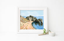 Durdle Door Print, Dorset Art Work, Dorset Coast Art, Jurassic Coast Print, Coastal Decor, Beach Decor, Seascape Print