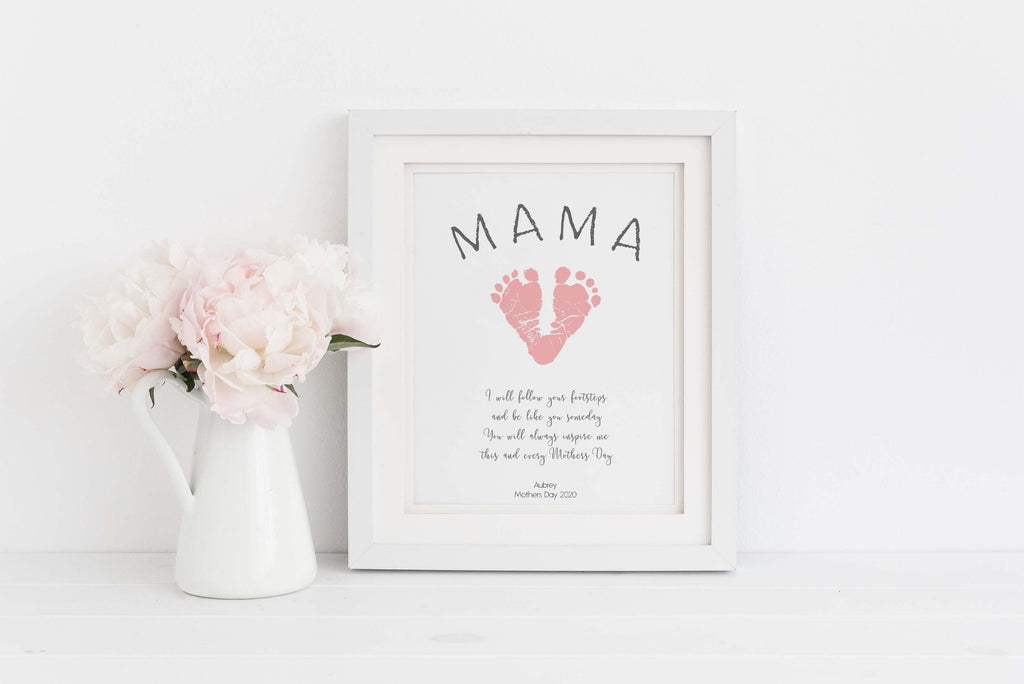 mothers day gifts from son, baby footprint keepsake ideas, baby handprint footprint keepsake, baby hand and footprint