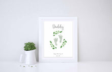 Baby Footprint Print - Gifts for Dad from Daughter, Gifts for Dad from Son, Unusual Fathers Day Gifts