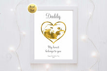 Ultrasound Scan Print, Gold Foil Sonograms UK, Fathers Day from Bump