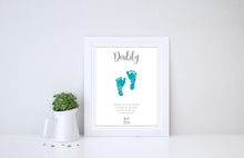 Footprint Gifts for Dad Birthday Gift Ideas for Husband, First Fathers Day Gift, Footprint Art