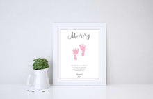 Baby Footprint Art Father's Day Gift, Fathers Day UK 2019 Gifts