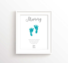 Thoughtful Mother's Day Gifts, Mothers Day Gifts From Baby Print Art, baby footprint art for mother's day gift idea