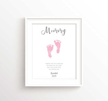 Mother's Day Footprint Gifts, Baby footprint Mother's Day Gift Idea, baby foot prints, baby footprint gifts, baby feet