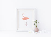 Bird Lover Gift, Watercolor Birds, Watercolour Flamingo, Watercolour Flamingo Painting, Watercolour Flamingo Print