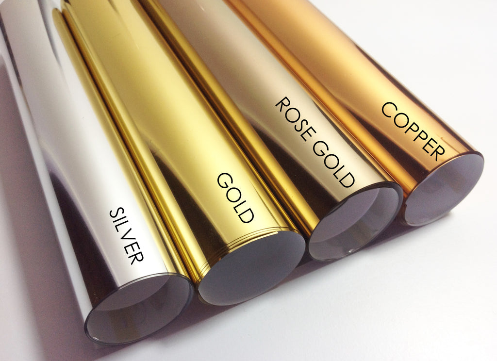 Foil Colour Choices for Custom Quote Foil Prints - Silver Foil, Gold Foil, Rose Gold Foil, Copper Foil