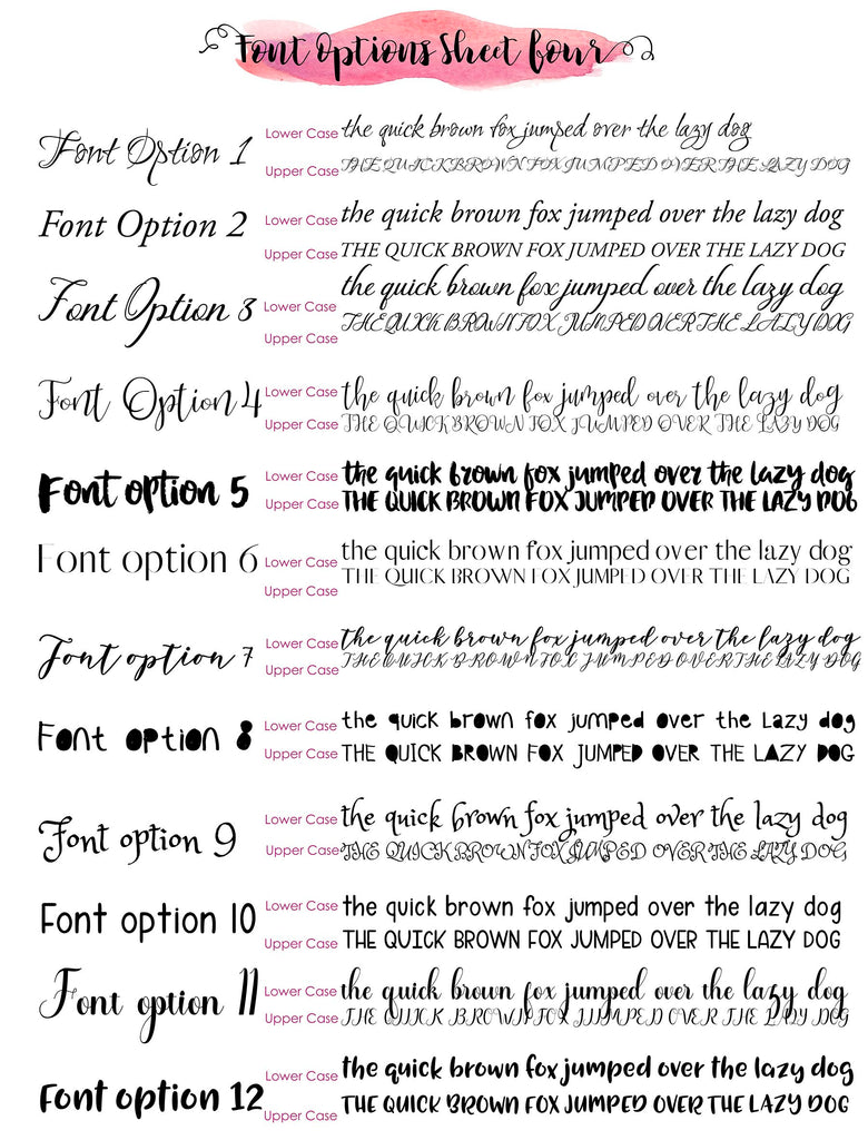 Crafty Cow Design - Font Options