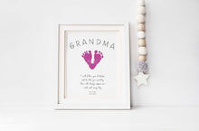 Grandma Gifts from Grandchildren, Baby Footprint Kit, Grandmother Mothers Day, Nan Gifts Christmas